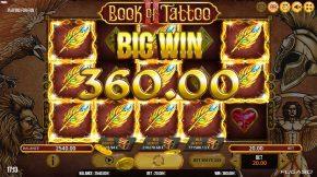 Book of Tattoo 2 Bonus Win