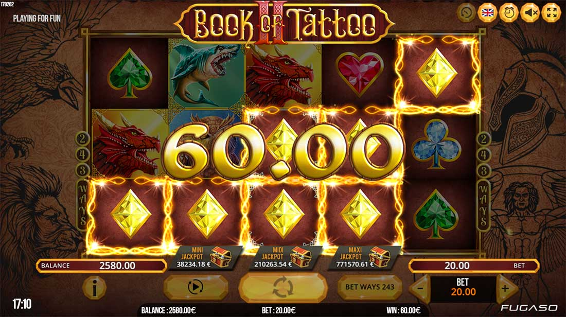 Book of tattoo slot machine online fugaso lucky park