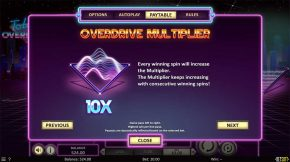 Total Overdrive Payout