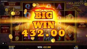 Majestic Megaways Bonus Win