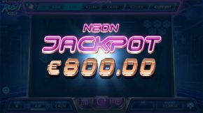 Neon Rush Splitz Jackpot Win