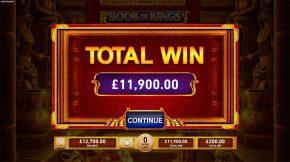 Book of Kings Bonus Total Win