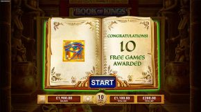 Book of Kings Free Spins