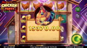 Chicken Party Bonus Big Win