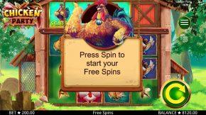 Chicken Party Free Spins