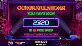 Dance Party Bonus Win