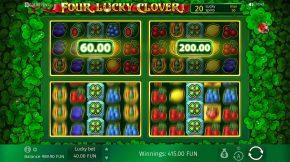 Four Lucky Clover Bonus Clovers