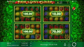 Four Lucky Clover Bonus Payout