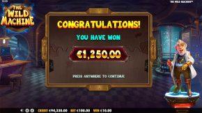 The Wild Machine Bonus Win