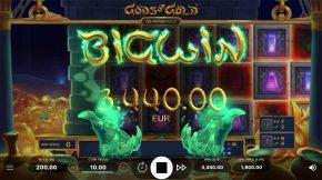 Gods of Gold Infinireels Game Big Win