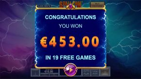Stallion Strike Bonus Win