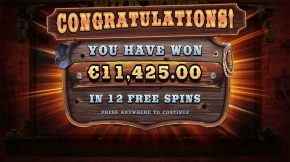 Wild West Gold Bonus Big Win