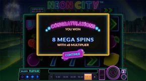 Neon City Free Spins