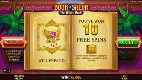 Book of Sheba Free Spins