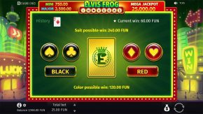 Elvis Frog in Vegas Gamble